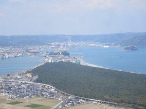 鏡山の展望台からの景色の写真